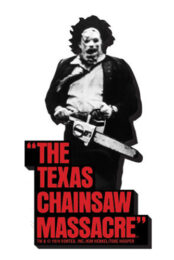 Texas chainsaw massacre Non aprite quella porta BW (MAGNETE 10cm)