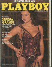 Playboy (edizione italiana) 1985 – luglio SERENA GRANDI