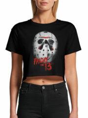 Venerdì 13 – Jason mask Crop Top (T-shirt Donna)