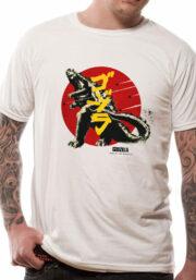 Godzilla Vintage Logo – T-SHIRT bianca