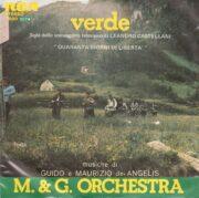 """M&G Orchestra – """"Verde"""" sigla dello sceneggiato televisivo (45 giri)"""